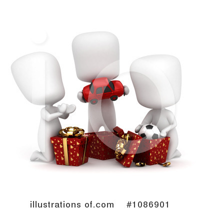 Royalty-Free (RF) Christmas Present Clipart Illustration by BNP Design Studio - Stock Sample #1086901