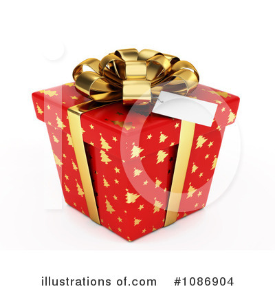 Royalty-Free (RF) Christmas Present Clipart Illustration by BNP Design Studio - Stock Sample #1086904