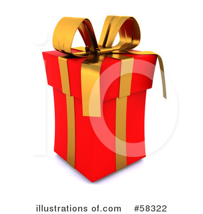 Christmas Gift Clipart #58322 by KJ Pargeter