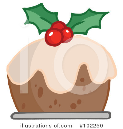 Christmas Pudding Clipart #102250 by Hit Toon