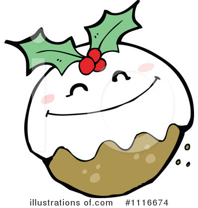 Christmas Pudding Clipart #1116674 by lineartestpilot
