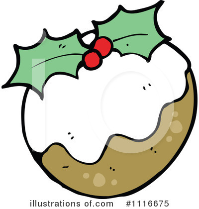 Christmas Pudding Clipart #1116675 by lineartestpilot