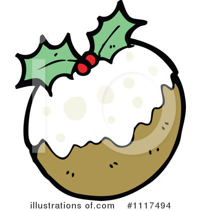 Christmas Pudding Clipart #1117494 by lineartestpilot
