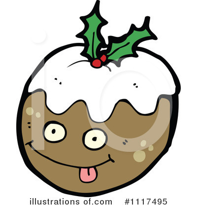 Christmas Pudding Clipart #1117495 by lineartestpilot