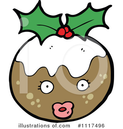 Christmas Pudding Clipart #1117496 by lineartestpilot