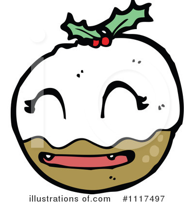 Christmas Pudding Clipart #1117497 by lineartestpilot