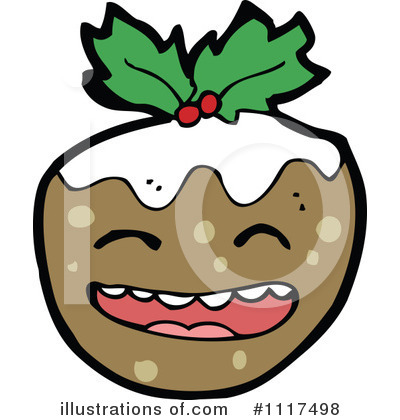 Christmas Pudding Clipart #1117498 by lineartestpilot