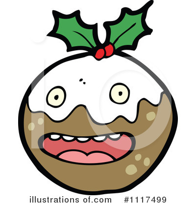 Christmas Pudding Clipart #1117499 by lineartestpilot