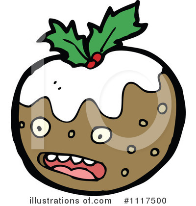 Christmas Pudding Clipart #1117500 by lineartestpilot