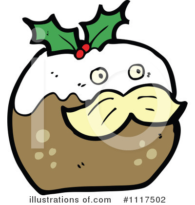 Christmas Pudding Clipart #1117502 by lineartestpilot