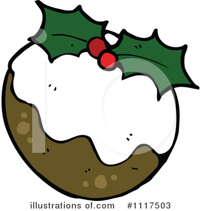Christmas Pudding Clipart #1117503 by lineartestpilot