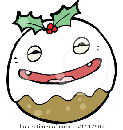 Christmas Pudding Clipart #1117507 by lineartestpilot