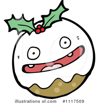 Christmas Pudding Clipart #1117509 by lineartestpilot