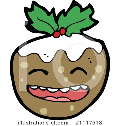 Christmas Pudding Clipart #1117513 by lineartestpilot