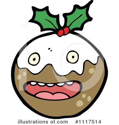 Christmas Pudding Clipart #1117514 by lineartestpilot