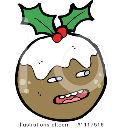 Christmas Pudding Clipart #1117516 by lineartestpilot