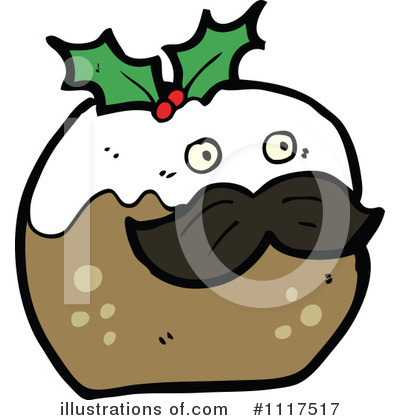 Christmas Pudding Clipart #1117517 by lineartestpilot