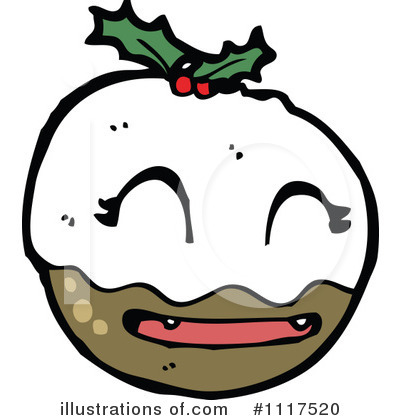 Christmas Pudding Clipart #1117520 by lineartestpilot