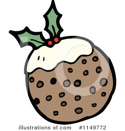 Christmas Pudding Clipart #1149772 by lineartestpilot