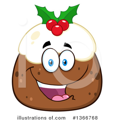 Christmas Pudding Clipart #1366768 by Hit Toon