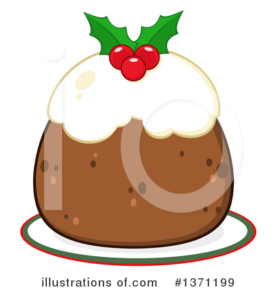 Christmas Pudding Clipart #1371199 by Hit Toon