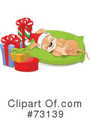 Christmas Puppy Clipart #73139