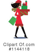 Royalty-Free (RF) Christmas Shopping Clipart Illustration #1144118