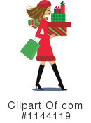 Royalty-Free (RF) Christmas Shopping Clipart Illustration #1144119