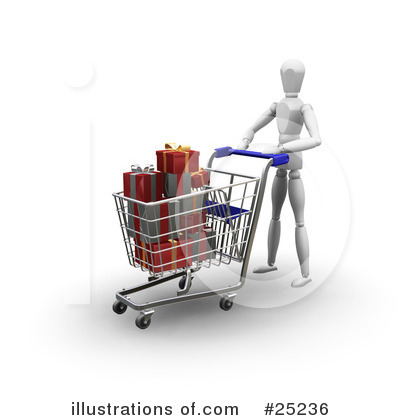 Christmas Shopping Clipart #25236 by KJ Pargeter