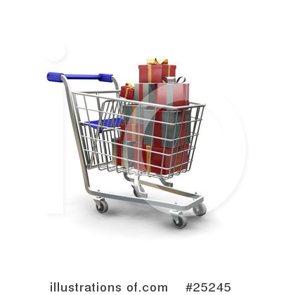 Christmas Shopping Clipart #25245 by KJ Pargeter