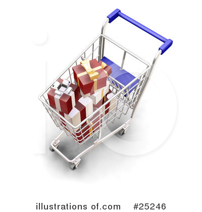 Christmas Shopping Clipart #25246 by KJ Pargeter