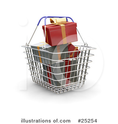 Christmas Shopping Clipart #25254 by KJ Pargeter