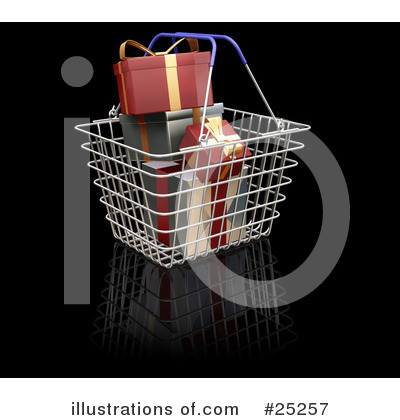 Christmas Shopping Clipart #25257 by KJ Pargeter