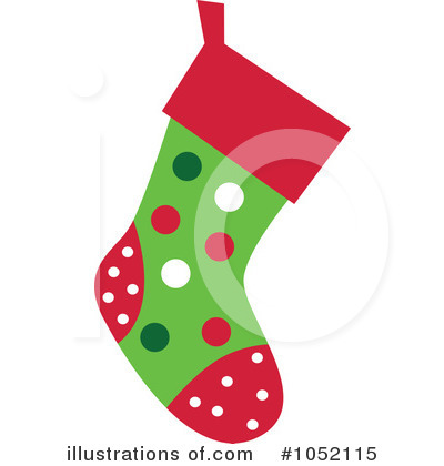 Christmas Stockings on Christmas Stocking Clipart  1052115 By Designbella   Royalty Free  Rf