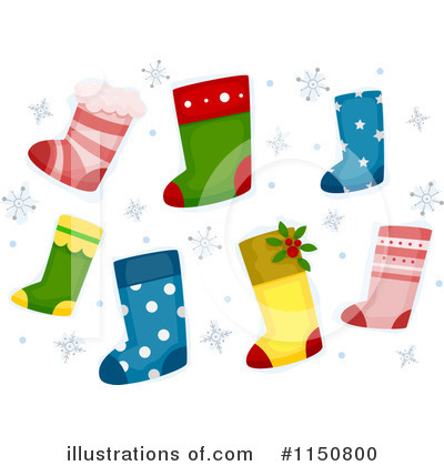 Royalty-Free (RF) Christmas Stocking Clipart Illustration by BNP Design Studio - Stock Sample #1150800