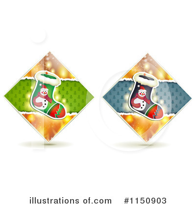 Royalty-Free (RF) Christmas Stocking Clipart Illustration by merlinul - Stock Sample #1150903