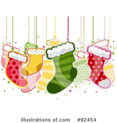 Christmas Stockings Clipart #92454 by BNP Design Studio