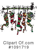 Royalty-Free (RF) christmas stockings Clipart Illustration #1091719