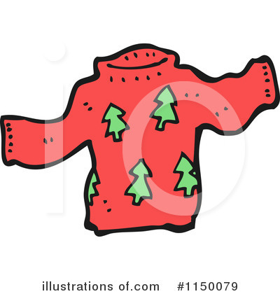 Royalty-Free (RF) Christmas Sweater Clipart Illustration by lineartestpilot - Stock Sample #1150079