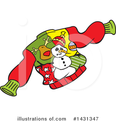 Christmas Sweater Clipart #1431347 by Johnny Sajem