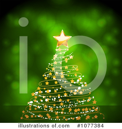 Royalty-Free (RF) Christmas Tree Clipart Illustration by elaineitalia - Stock Sample #1077384