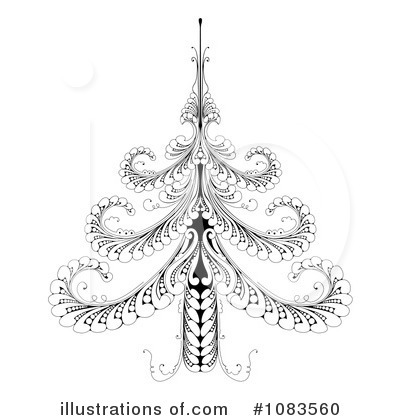Christmas Tree Clipart #1083560 by AtStockIllustration