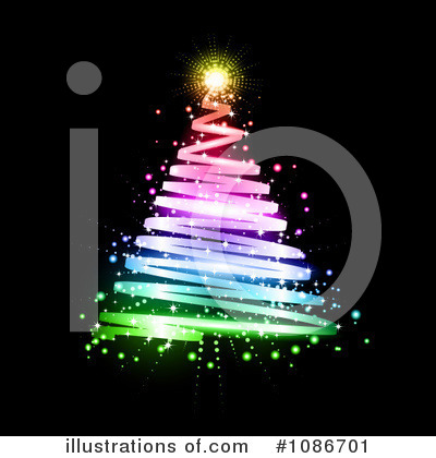 Royalty-Free (RF) Christmas Tree Clipart Illustration by KJ Pargeter - Stock Sample #1086701