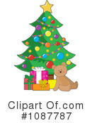 Royalty-Free (RF) Christmas Tree Clipart Illustration #1087787