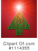 Royalty-Free (RF) Christmas Tree Clipart Illustration #1114355