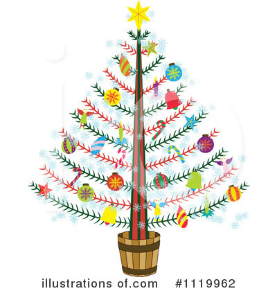 Royalty-Free (RF) Christmas Tree Clipart Illustration by Cherie Reve - Stock Sample #1119962