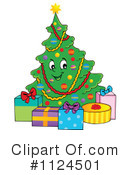 Royalty-Free (RF) Christmas Tree Clipart Illustration #1124501