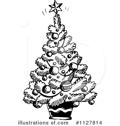 Christmas Tree Clipart #1127814 by visekart
