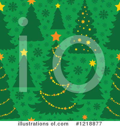 Royalty-Free (RF) Christmas Tree Clipart Illustration by visekart - Stock Sample #1218877
