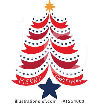Christmas Tree Clipart #1254000 by Cherie Reve